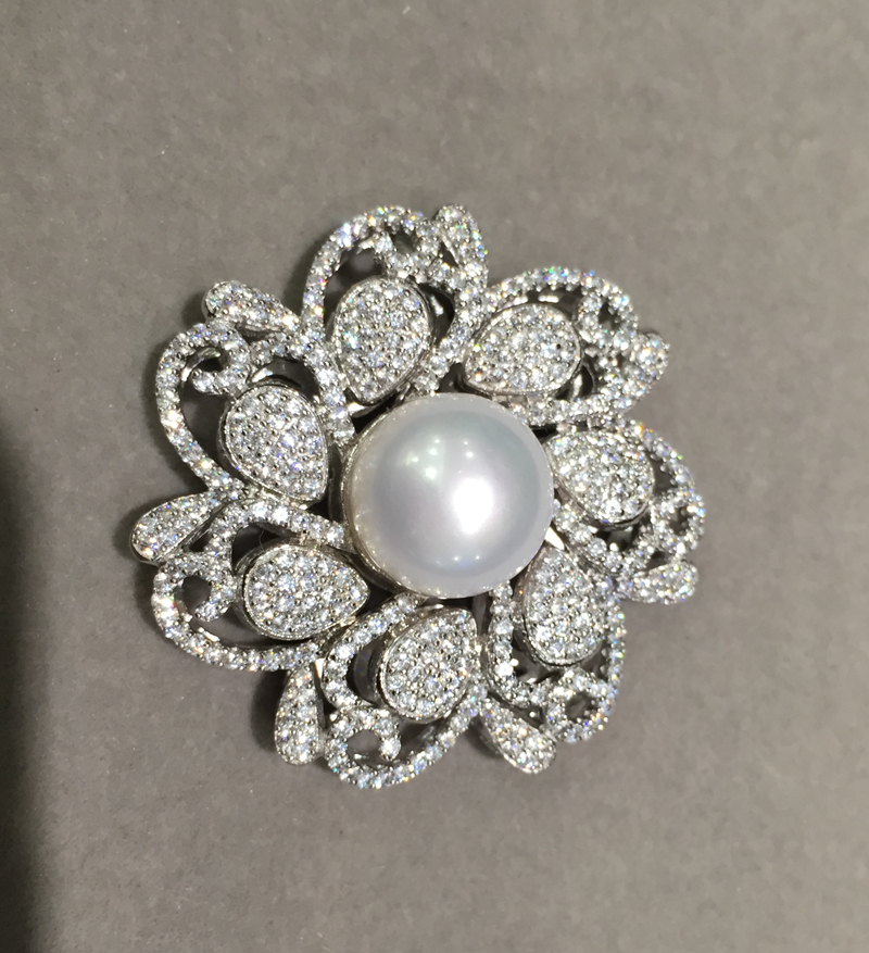 925 argent sterling avec zircon cubique connecteur pour collier bijoux fabrication de fleurs bricolage connecteurs eau douce perle mode - 2