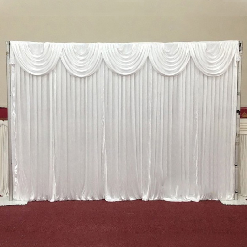 High Quality White Wedding Backdrop with Swag for Wedding Events Ceremony Banquet Party Decoration Wedding Drapes