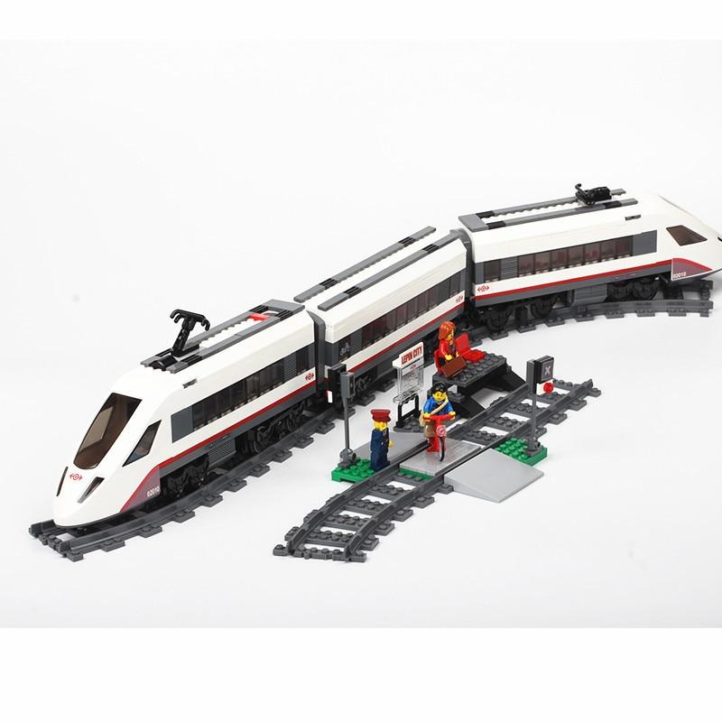 مدينة الركاب قطار متوافق مع Legoed 60197 60051 10183 3677 اللبنات الطوب أرقام التعليمية لعب للأطفال-في حواجز من الألعاب والهوايات على  مجموعة 1