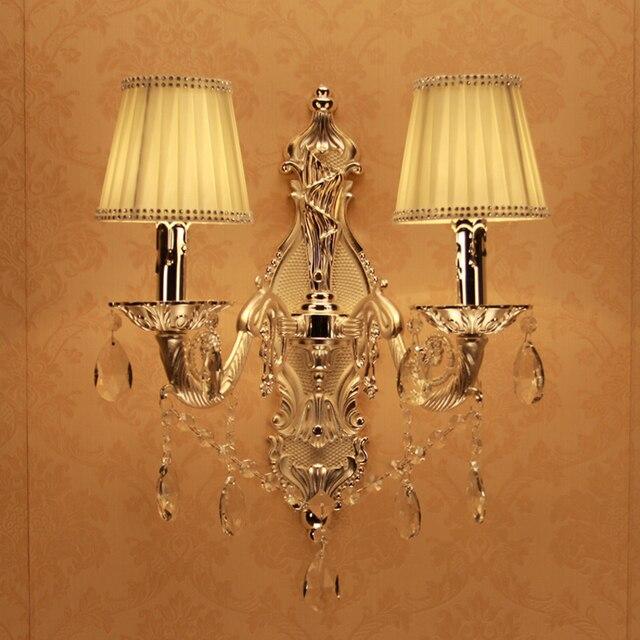 US $51.6 14% OFF|Nacht lampen silber Kristall Wand Spiegel Lampe LED Make  Up Spiegel Bild Display Wand Licht Wasserdicht Bad Lampe innen licht in ...