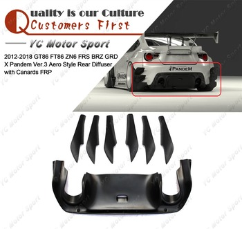 Car Accessories FRP Fiber Glass GRD X PD Ver.3 Aero Style Rear Diffuser with Canards Fit For 2012-2016 GT86 FT86 ZN6 FRS BRZ