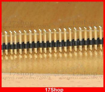 100PCS Gilded Pin Header 2X40 Pin 2.54 mm Double Row Connectors for Programmer