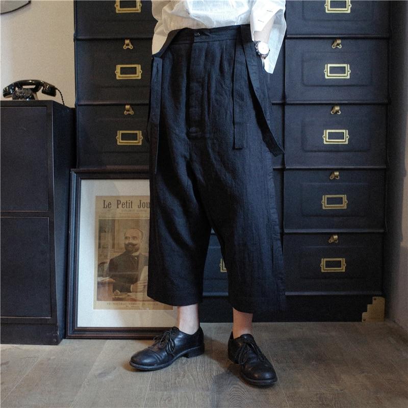 2019  Self-designed summer style high quality casual cotton and linen pants nine minutes pants  M-6XL! Plus-size men's slacks