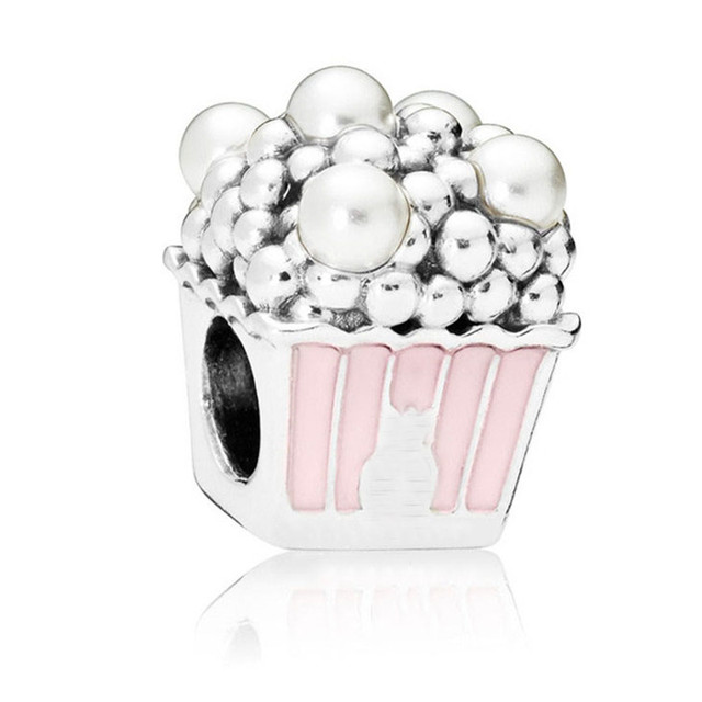 c31b4e97917c New 100 925 Silver Bead Delicious Popcorn Charm Fit Original Pandora  Bracelet Bangle Necklace For Women