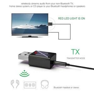 Image 4 - 100 قطعة/الوحدة USB اللاسلكية استقبال الإرسال بلوتوث V5.0 الصوت الموسيقى ستيريو محول دونغل للتلفزيون PC سمّاعات بلوتوث