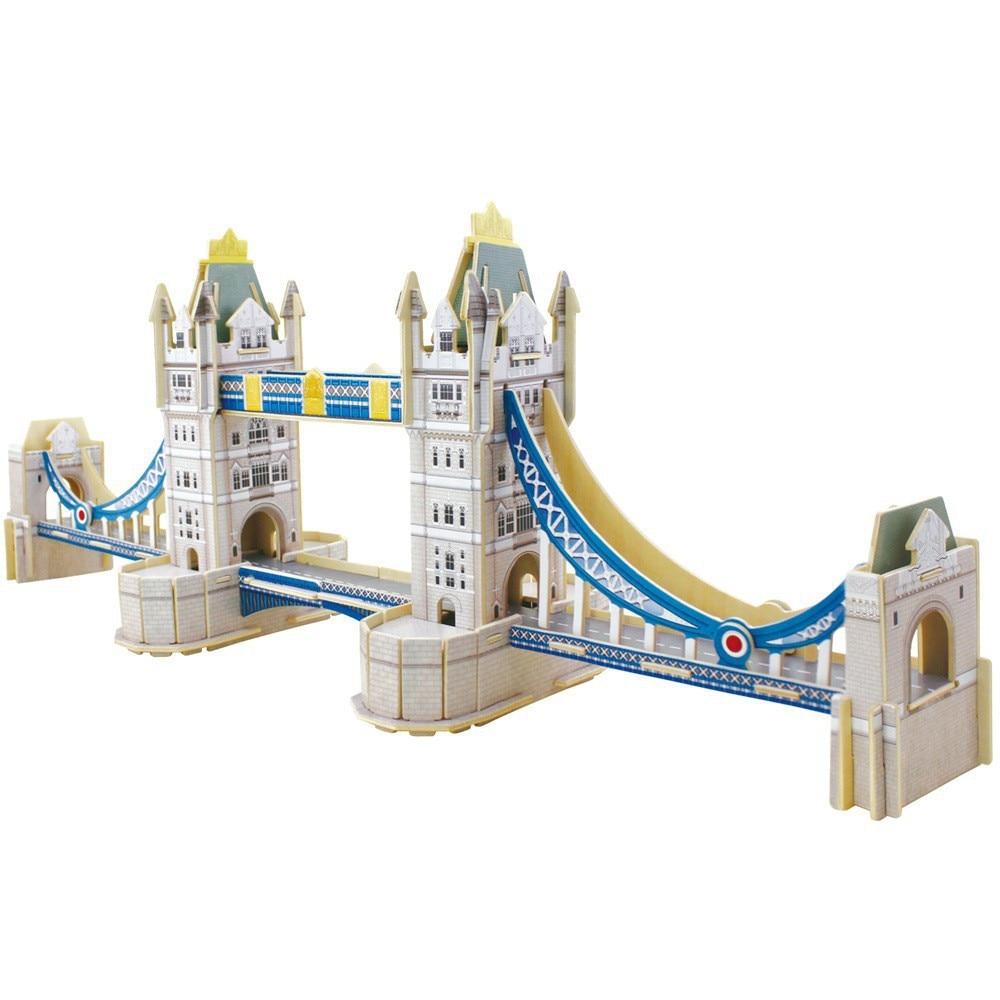 DIY toys 3d three dimensional London Bridge Wood Puzzle