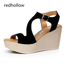 Summer Women Shoes Platform Sandals Sexy Wedges Women Sandals Fashion Shoes High Heels Sandalias Mujer High Quality Size 34-43 shofoo shoes sweet fashion free shipping multicolored leather 15 cm wedges sandals women s sandals size 34 45