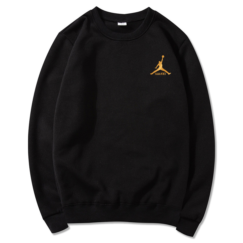 Novelty Hoodies Pullover Mens Sweatshirt JORDAN Black-Color Male Fashion Brand-New Print