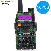 10pcs BaoFeng UV 5R Walkie Talkie VHF/UHF 136 174Mhz&400 520Mhz Dual Band CB radio Baofeng uv 5r Portable Walkie talkie uv5r