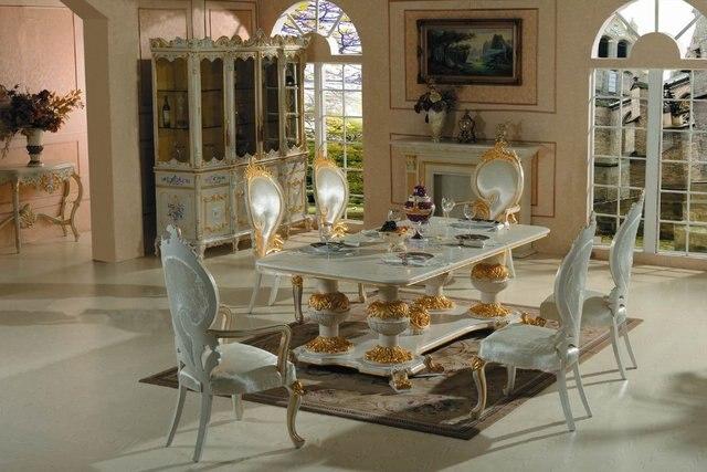mobili in stile barocco solido eood intagliato a mano sala da pranzo ...