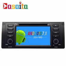 Dasaita 7″ Android 7.1 Car GPS DVD Player Navi for BMW E39 E53 X5 with 2G+16G Quad Core Car Stereo Radio Multimedia Bluetooth