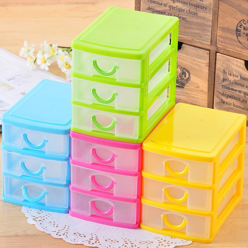 Mini plastic multi layer drawer storage box storage box finishing ...