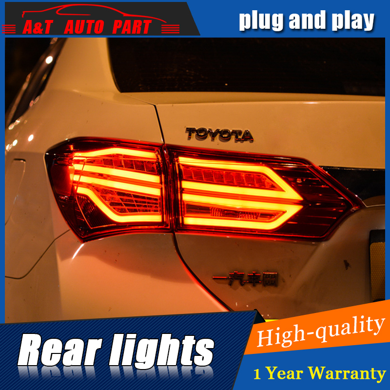 Car Styling LED Tail Lamp for TOYOTA Corolla Tail Lights 2014-2016 For Corolla Rear Light DRL+Turn Signal+Brake+Reverse light car styling tail lamp for toyota corolla led tail light 2014 2016 new altis led rear lamp led drl brake park signal stop lamp