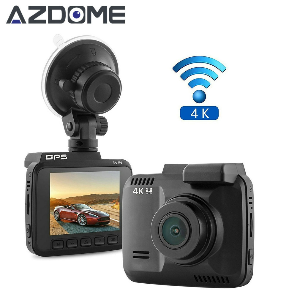 GS63H Car Dash Cam 4K 2880x2160P Dash Camera Built in GPS Car Camera with WiFi G-Sensor Loop Recording Parking Monitoring Azdome