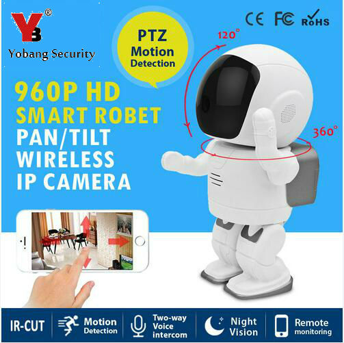 Yobang Security Mini Robot 960P WiFi IP Surveillance Security Camera Wireless Network Motion Detection For IOS Android IP camera yobang security ios