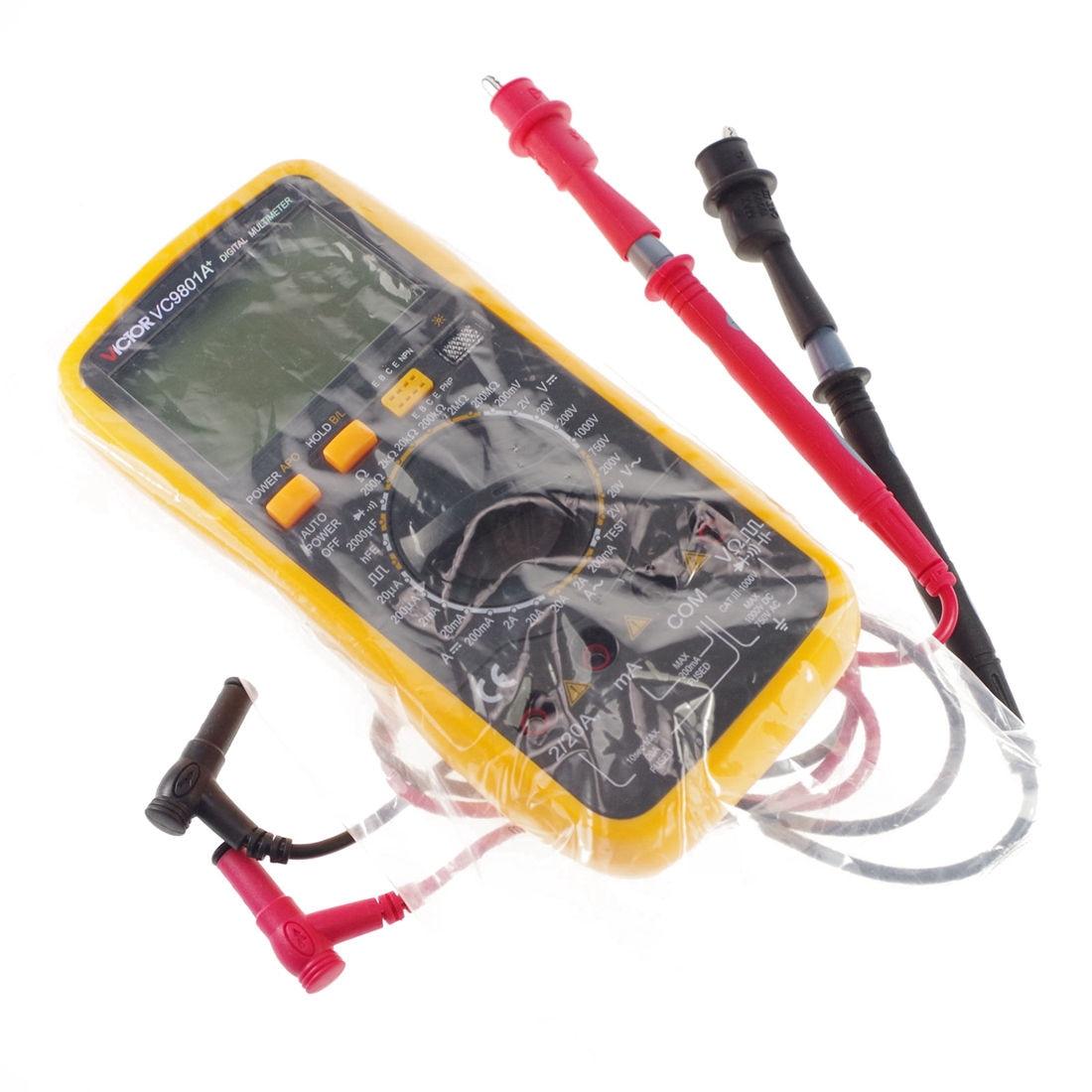 Victor AC DC Voltmeter Ohmmeter Ammeter Multimeter Digital Meter VC9801A+  цены
