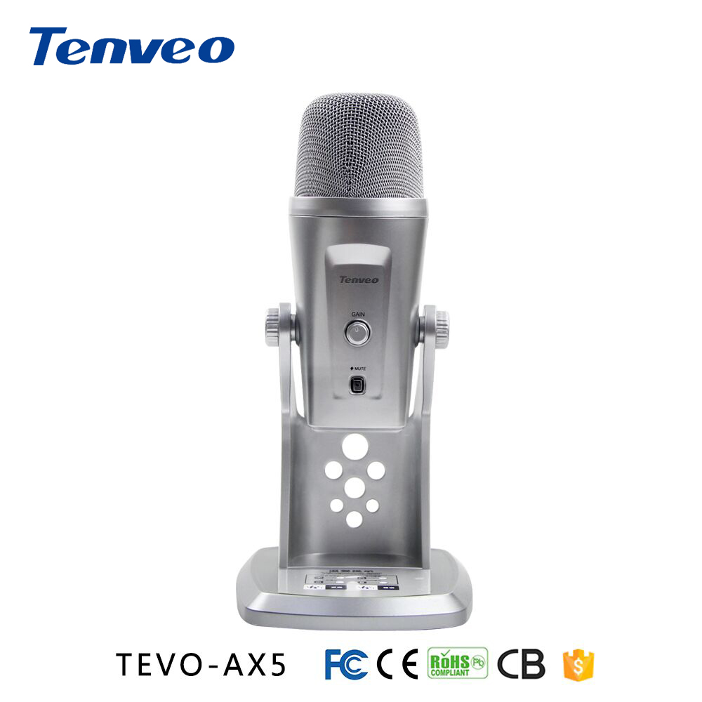 Tenveo AX5 microfono lettore USB speaker musica registrare Adatto per la registrazione, strumenti, coro, lo streaming di video dal vivo, intervista