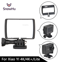 SnowHu Housing Side Frame Case Mount Protect Frame With Mount Adapter For Xiaomi YI 4K For XiaoYi 4K+ YI 2 lite LD10 цена