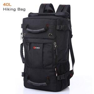 Image 1 - Kaka mochila de laptop impermeável de 40 l, mochila multifuncional de alta capacidade para viagem, escola, caminhadas