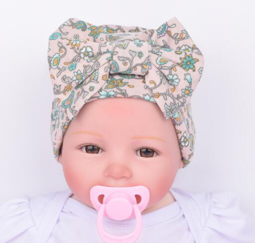 5pcs/lot Hospital Newborn Hat Baby Girl Beanie With Floral Big Bowknot Newborn Knitted Infant Caps Baby Toddler Hat 4 Colors Girls' Baby Clothing Hats & Caps