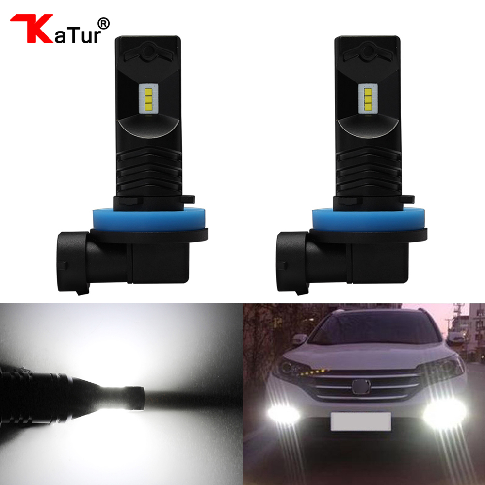 Katur 80W H8 H11 H16 Led Bulbs For Cars Daytime Driving Fog Light CSP Chip Super Bright 6000K White Lighting H16JP H16 Led Lamp зубр 25629 h16