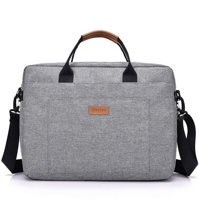 Men Canvas Bags Business Briefcase Office Travel Messenger Large Tote Women's Computer Bags Trip File Laptop Bag 2019 XA194ZC