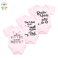 2017 letter pattern print black white pink short sleeves baby bodysuit baby girl boy clothes baby.jpg 250x250