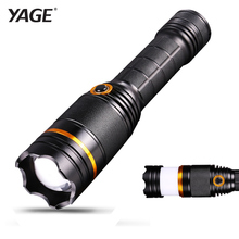 Hidden Draw Camping Light 10W xml T6 LED Flashlight Warning 5 Modes Light Tactical Flashlight Torch Lotus Attack 18650 Lantern