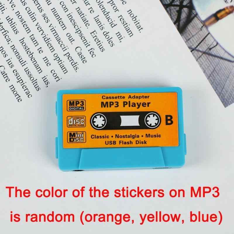 Tape Bentuk Lucu Radio Mini Anak-anak Rechargeable USB Port Retro MP3 Player Kartu TF