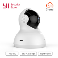 YI Dome 720P Camera Home Cam WIFI 360Degree Night Vision Pan/Tilt/Zoom Wireless IP Security Surveillance System YI Cloud Global