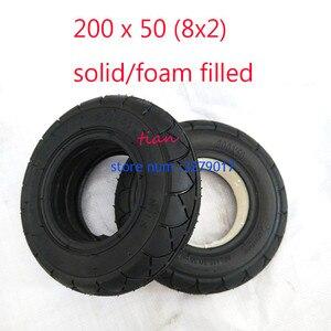 Image 2 - 2 ألوان 1 قطعة سكوتر متحرك الإطارات 200x50 (8x2) الصلبة/رغوة شغل 200x50 ل الحلاقة E100 E125 E200 سكوتر Vapo