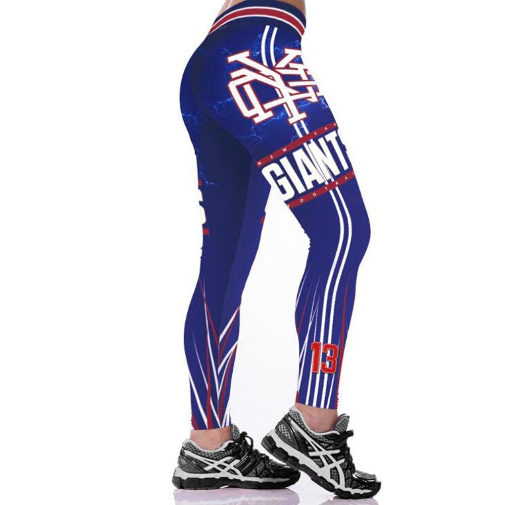 NEW YORK GIANT 3D PRINT WOMEN LEGGINGS HIGH WAIST LEGGING STEELERS PRINTED WOMEN PANTS SLIM FITNESS LEGGINS