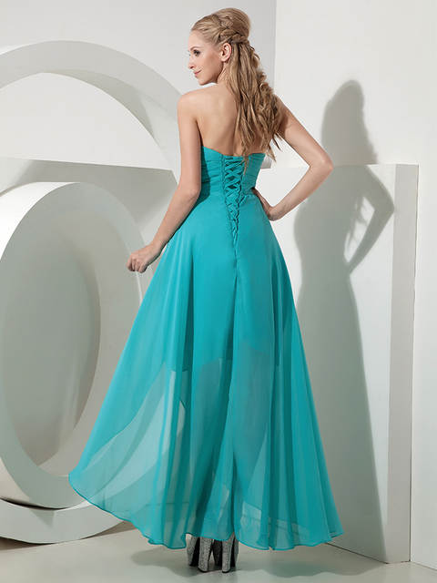 Online Shop 2019 Real High Low Bridesmaid Dresses Sweetheart Turquoise  Short Front Long Back Beach Country Wedding Bridesmaid Party Dress  7545c88cf911