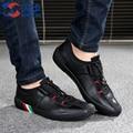 2016 Nuevos Zapatos de Los Hombres Zapatos Casuales para Hombres de Moda masculina Zapatos Transpirables de Alta Calidad Para Hombre con cordones Planos Tamaño de los zapatos 39-44