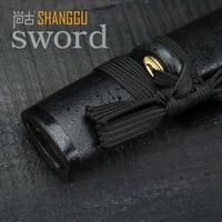 Short Paragraph Black Katana Japan Home Decoration Ninja Sword TV Props RPG Real Sword