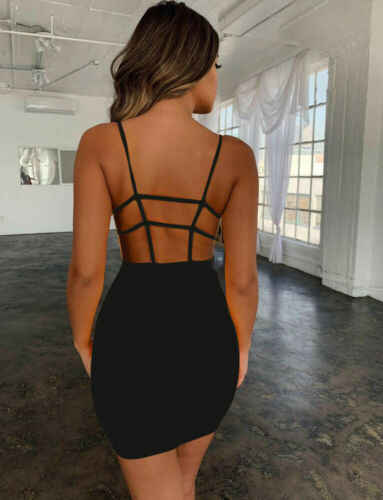 Модное женское облегающее платье бодикон без рукавов вечерние коктейльные Короткие мини-платья