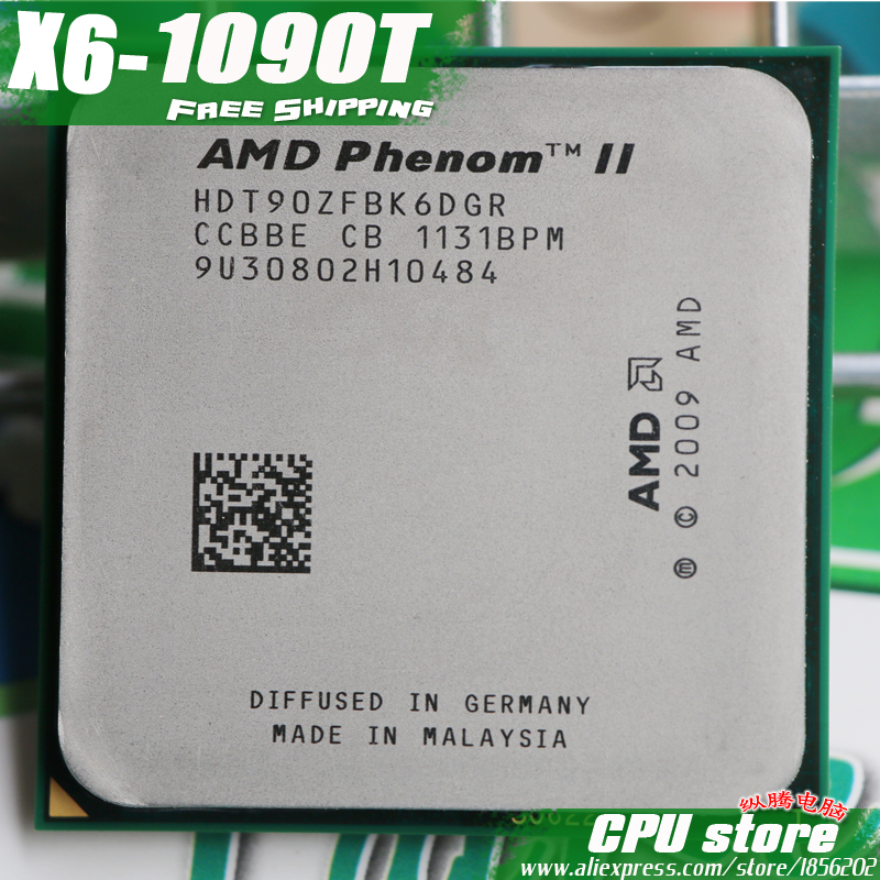 AMD Phenom II X6 1090T CPU Processor Six-Core (3.2Ghz 6M 125W ) Socket AM3 AM2+ 938 pin (working 100% Free Shipping)sell 1055T