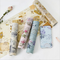20cm 5m Vintage Washi Tapes Notebook Album Phone Decoration Stationery Supply Paper Tape Self Adhesive Stickers