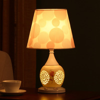 Ceramic Bedroom Bedside Table Lamp Hollow and Warm Romantic Table Lamps Lamps for Living Room Lamps Table Art Deco