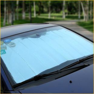 Envío libre del coche sol shading stoopable después de la doble cara de papel de aluminio fuentes autos del coche sol shading bordo protector solar