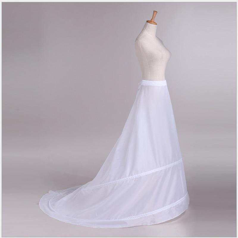Factory Direct Sale Wedding Dress Tail Tail Skirt Braces No Yarn Tail Support Skirt Two Steel Waist Waist Skirt Petticoat Women