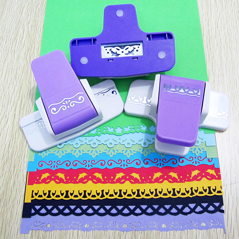 DIY Paper Cutter Border Hole Punch Craft Scrapbooking Kids Handmade Edge Puncher Scrapbook Shaper Large Embossing Device