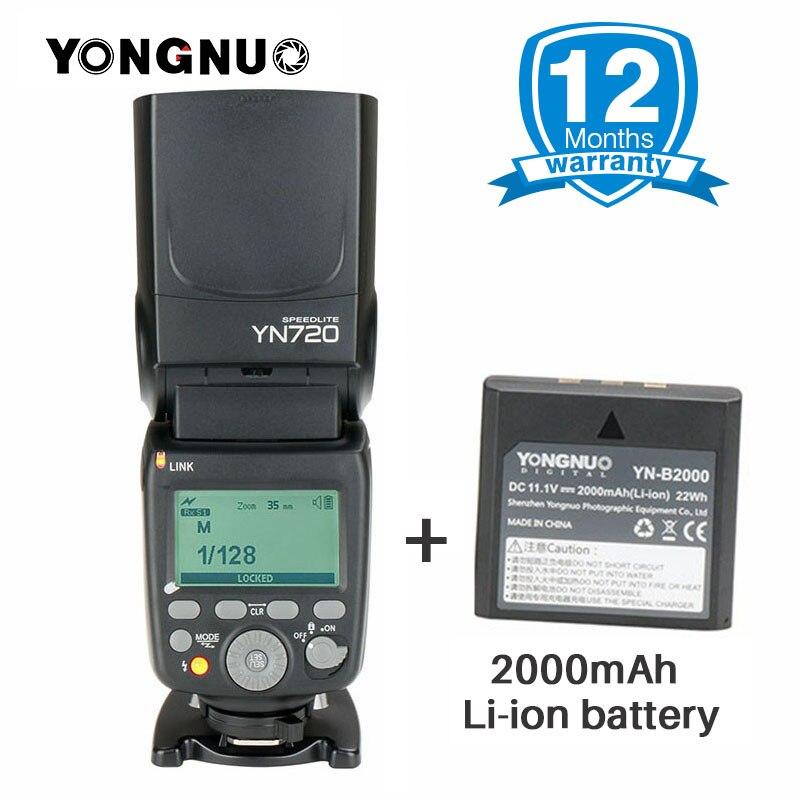 2018 YONGNUO YN720 Al Litio Speedlight Speedlite Flash con Batteria Li-Ion per Canon Nikon Pentax REFLEX, aggiornato di YN560IV YN560iii