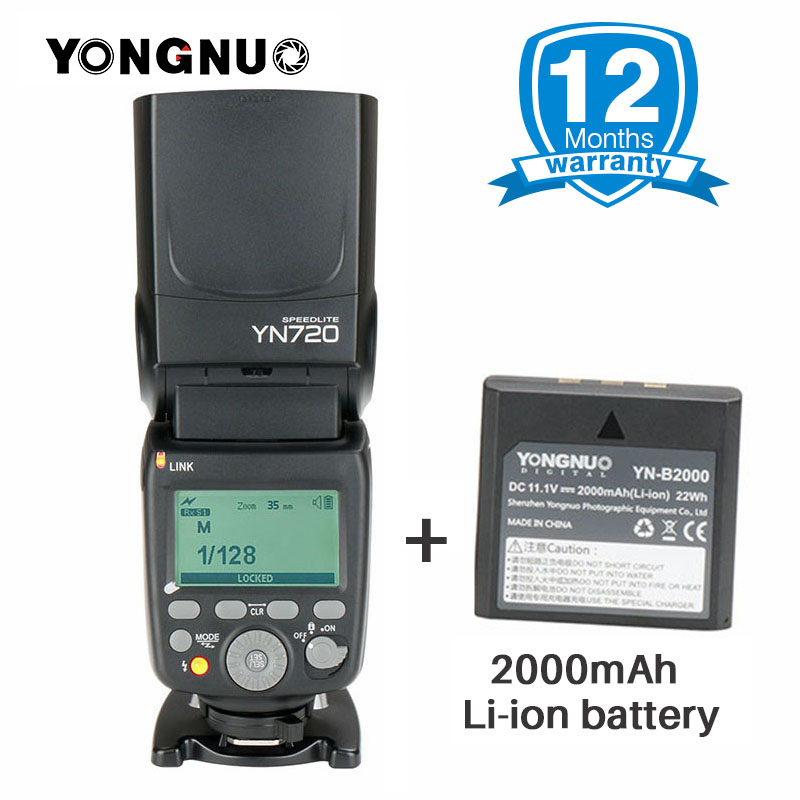2018 YONGNUO YN720 Lithium Speedlight Speedlite Flash with Li-ion Battery for Canon Nikon Pentax SLR,updated of YN560IV YN560iii adapter