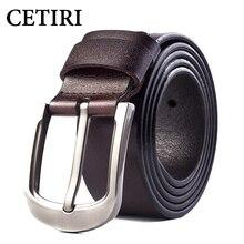 Jeans Belt 2017 Vintage Mens Big Pin Buckle Wide Belts Kemer Cowhide Genuine Leather Ceinture Homme Luxe Marque Cinta