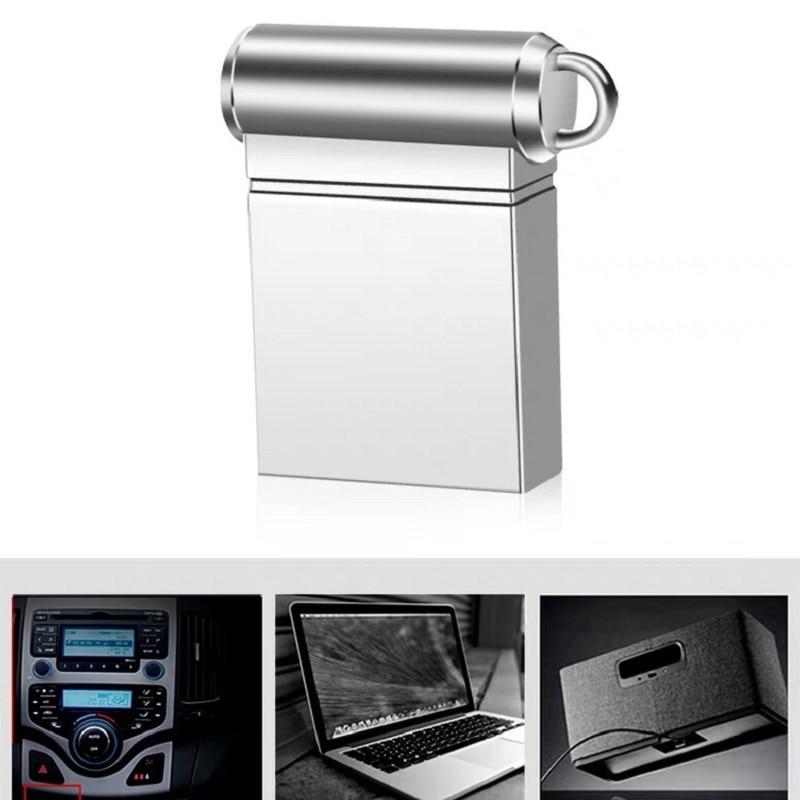 Image 4 - Silver Usb Flash Drive 32gb Super Mini Metal Pen Drive 16gb Usb 2.0 High Speed Pendrive 128gb 64gb 8gb Usb Stick 4gb Memoria Usb-in USB Flash Drives from Computer & Office