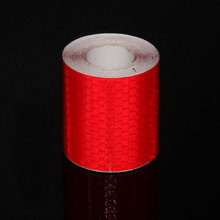 Buy red colored reflective tape and get free shipping on aliexpress 5cmx3m safety mark reflective tape stickers red color pvc ciclismo sticker for light reflecting stickers aloadofball Choice Image