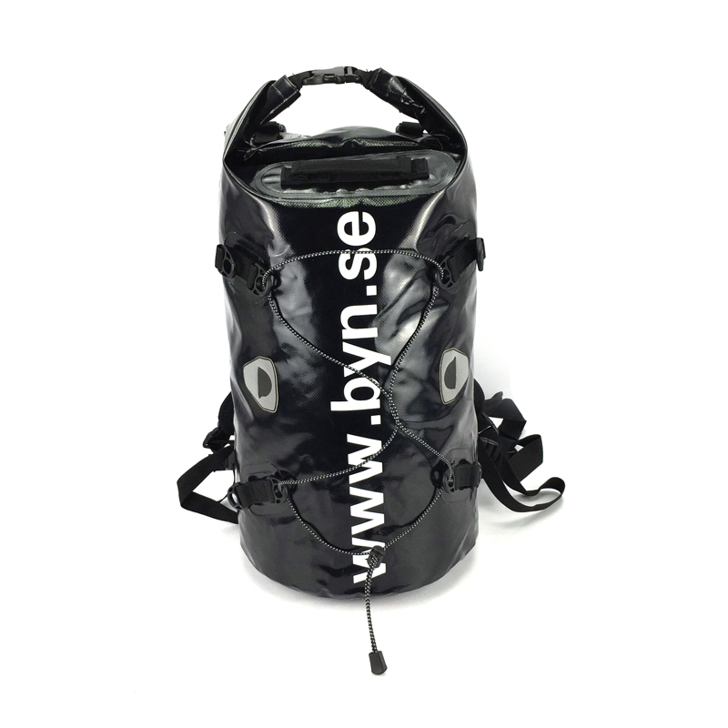 50L Portable 500D PVC tarpaulin Versatile Black Removable dry bag/backpack PVC waterproof bag TB0057