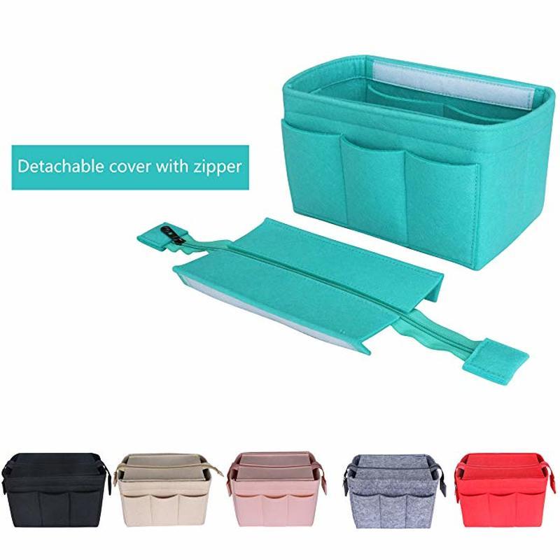 Cosmetic Organizer Felt Insert Bag For Handbag Travel Inner Purse Portable Make Up Bags Fits Neverfull MM GM PM Speedy