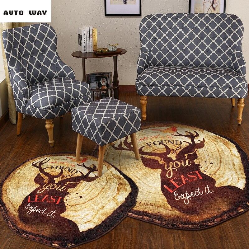 Retro Bedroom Chairs Persian Carpet Bedroom Blue Grey Bedroom Colour Scheme Bench Seat For Bedroom: Retro Elk Round Rug Nordic Ring Round Carpet Study